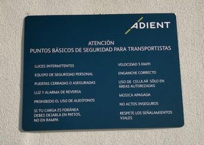 Adient custom wall sign, Chihuahua MX