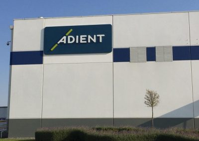Adient large wall sign, Queretaro MX