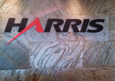 Harris interior flat letters on marble