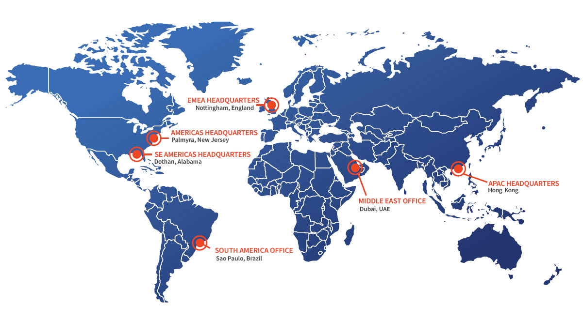 TISA Global Office Locations Around the World
